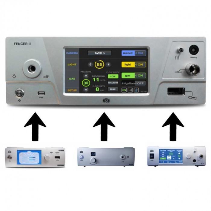 Интегрированная система 4 в 1 (камера, источник света, инсуффлятор, ирригатор) MGB Fencer III